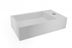Solid Surface fontein rechts 400x220x100