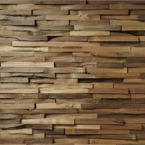 Wallcladding Natural Wood Modular Walnut Cleaved 4 st. 850